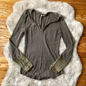 Free People Patchwork Cuff Thermal (price firm)